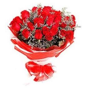 Uşak çiçek mağazası , çiçekçi adresleri  12 adet kırmızı güllerden görsel buket