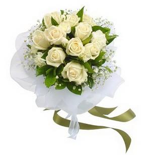 Uşak online çiçekçi , çiçek siparişi  11 adet benbeyaz güllerden buket