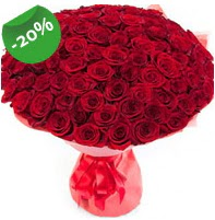 Özel mi Özel buket 101 adet kırmızı gül  Uşak anneler günü çiçek yolla