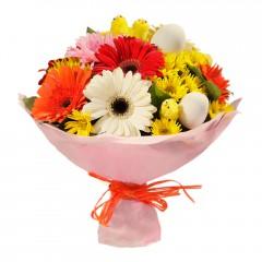 Karışık mevsim buketi Mevsimsel çiçek  Uşak internetten çiçek siparişi