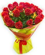 19 Adet kırmızı gül buketi  Uşak çiçek siparişi vermek