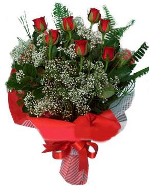7 kırmızı gül buketi  Uşak çiçek servisi , çiçekçi adresleri