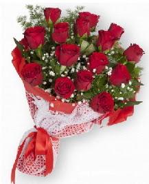 11 kırmızı gülden buket  Uşak güvenli kaliteli hızlı çiçek