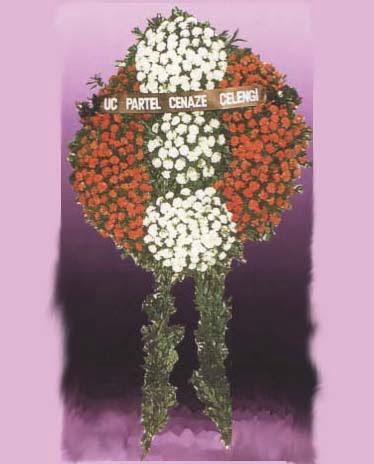 Uşak online çiçekçi , çiçek siparişi  Üç partel çelenk sadece cenaze
