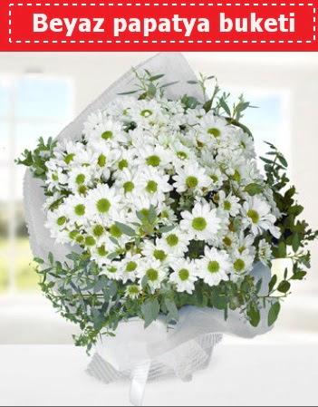 Beyaz Papatya Buketi  Uşak 14 şubat sevgililer günü çiçek