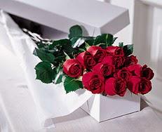 Uşak çiçek satışı  özel kutuda 12 adet gül