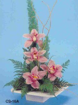 Uşak çiçekçi telefonları  vazoda 4 adet orkide