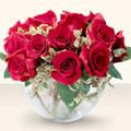 Uşak çiçek online çiçek siparişi  mika yada cam içerisinde 10 gül - sevenler için ideal seçim -