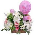 balon ve çiçeklerle tanzim  Uşak internetten çiçek satışı