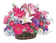 küçük karisik özel sepet   Uşak çiçek online çiçek siparişi