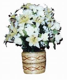 yapay karisik çiçek sepeti   Uşak çiçek mağazası , çiçekçi adresleri