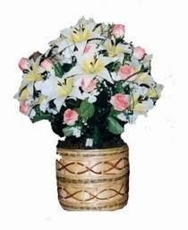 yapay karisik çiçek sepeti   Uşak çiçek servisi , çiçekçi adresleri