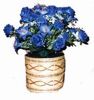 yapay mavi çiçek sepeti  Uşak cicekciler , cicek siparisi