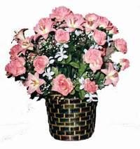 yapay karisik çiçek sepeti  Uşak çiçek online çiçek siparişi