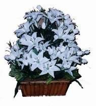 yapay karisik çiçek sepeti   Uşak online çiçek gönderme sipariş