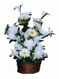 yapay karisik çiçek sepeti  Uşak çiçek siparişi vermek