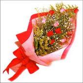 12 adet renkli  gül buketi   Uşak çiçekçi mağazası