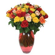 51 adet gül ve kaliteli vazo   Uşak çiçek gönderme sitemiz güvenlidir