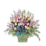 sepette kazablanka ve güller   Uşak çiçek gönderme