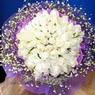 71 adet beyaz gül buketi   Uşak çiçek , çiçekçi , çiçekçilik