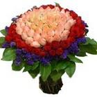 71 adet renkli gül buketi   Uşak ucuz çiçek gönder