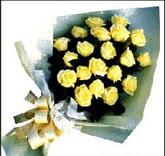 sari güllerden sade buket  Uşak çiçek , çiçekçi , çiçekçilik