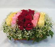 15 adet reprenkli gül sepeti   Uşak çiçek yolla