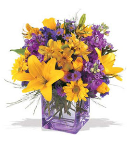 Uşak çiçek mağazası , çiçekçi adresleri  cam içerisinde kir çiçekleri demeti
