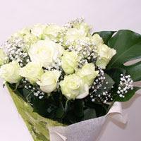 Uşak hediye çiçek yolla  11 adet sade beyaz gül buketi