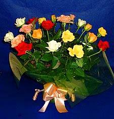 Uşak hediye çiçek yolla  13 adet karisik renkli güller
