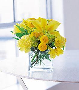 Uşak ucuz çiçek gönder  sarinin sihri cam içinde görsel sade çiçekler