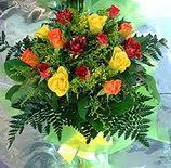 13 adet karisik gül buketi demeti   Uşak uluslararası çiçek gönderme