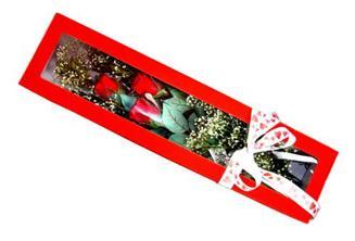 Uşak hediye çiçek yolla  Kutuda 3 adet gül