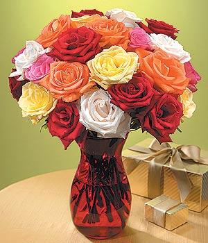 Uşak anneler günü çiçek yolla  13 adet renkli gül