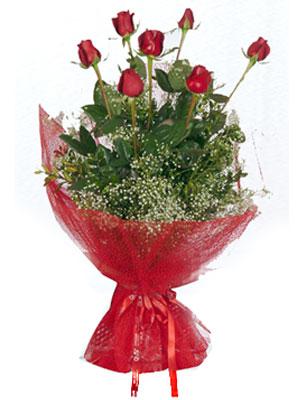 Uşak çiçek servisi , çiçekçi adresleri  7 adet gülden buket görsel sik sadelik