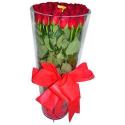 Uşak çiçek online çiçek siparişi  12 adet kirmizi gül cam yada mika vazo tanzim