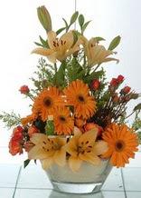 Uşak çiçek servisi , çiçekçi adresleri  cam yada mika vazo içinde karisik mevsim çiçekleri