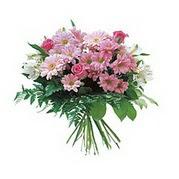 karisik kir çiçek demeti  Uşak çiçek satışı