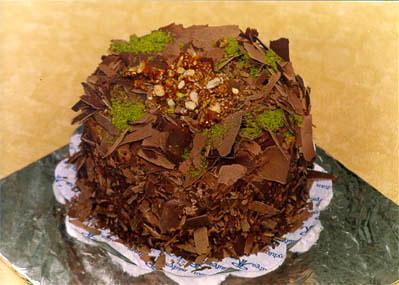 Çikolatali 4 ila 6 kisilik yas pasta  Uşak çiçek gönderme sitemiz güvenlidir