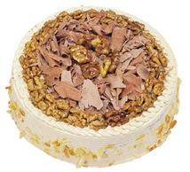Karamelli 4 ile 6 kisilik yas pasta  Uşak çiçek yolla