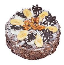 Muzlu çikolatali yas pasta 4 ile 6 kisilik   Uşak uluslararası çiçek gönderme