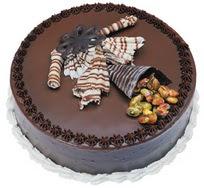 Çikolatali yas pasta 4 ile 6 kisilik  leziz  Uşak çiçek mağazası , çiçekçi adresleri