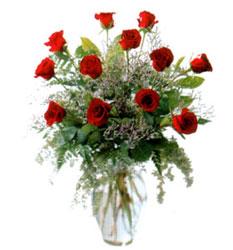 Vazo içerisinde 11 kirmizi gül  Uşak çiçek siparişi vermek
