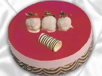 pasta siparisi 4 ile 6 kisilik yas pasta çilekli yaspasta  Uşak çiçek servisi , çiçekçi adresleri