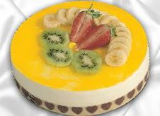 pasta gönderme 4 ile 6 kisilik yas pasta muzlu yaspasta  Uşak çiçek mağazası , çiçekçi adresleri