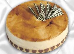 taze pasta 4 ile 6 kisilik yas pasta karamelli yaspasta  Uşak çiçekçiler