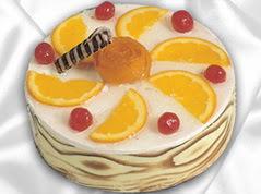 lezzetli pasta satisi 4 ile 6 kisilik yas pasta portakalli pasta  Uşak çiçekçi mağazası