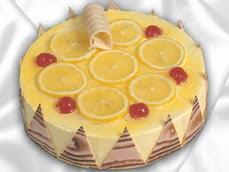 taze pastaci 4 ile 6 kisilik yas pasta limonlu yaspasta  Uşak online çiçek gönderme sipariş