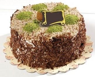 pasta gönderme 4 ile 6 kisilik çikolatali yas pasta  Uşak çiçek satışı