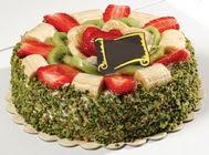 pasta gönder  4 ile 6 kisilik karisik meyvali yas pasta  Uşak internetten çiçek siparişi